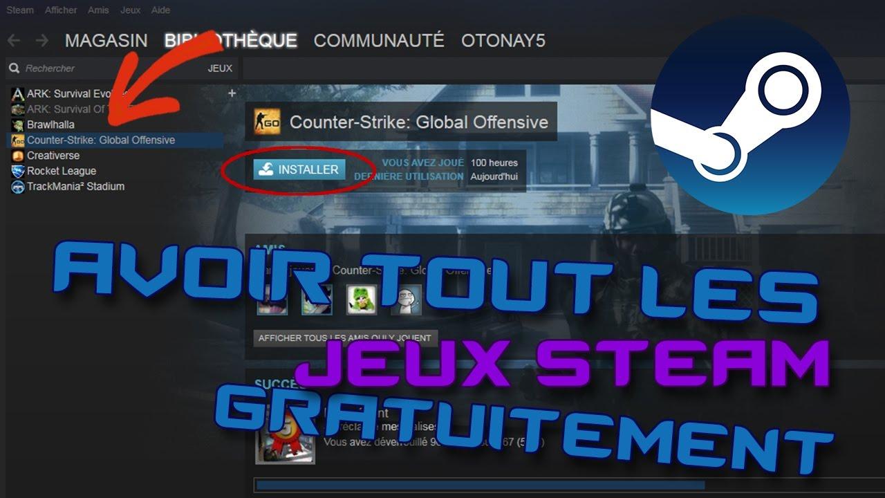 Comment Avoir Tout Les Jeux Steam Gratuitement !!! pour Jeux De Tout Gratuit