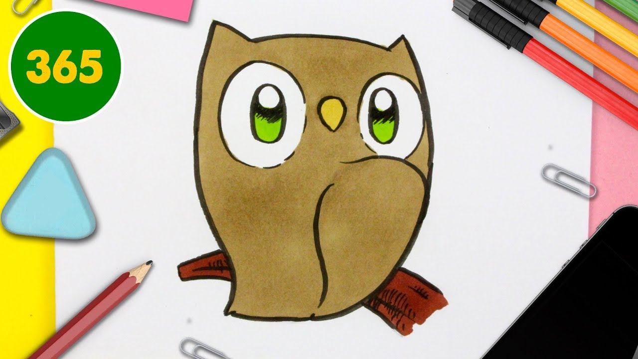 Comment Dessiner Chouette Kawaii - Dessins Kawaii Facile - Comment Dessiner  Des Animaux Kawaii serapportantà Dessin Hibou Facile