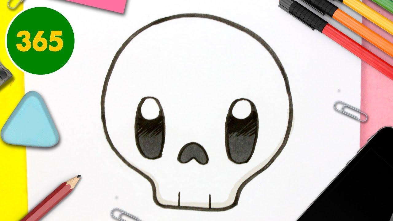 Comment Dessiner Crâne Kawaii Étape Par Étape – Dessins Kawaii Facile -  Comment Dessiner Halloween serapportantà Dessin D Halloween Facile A Dessiner