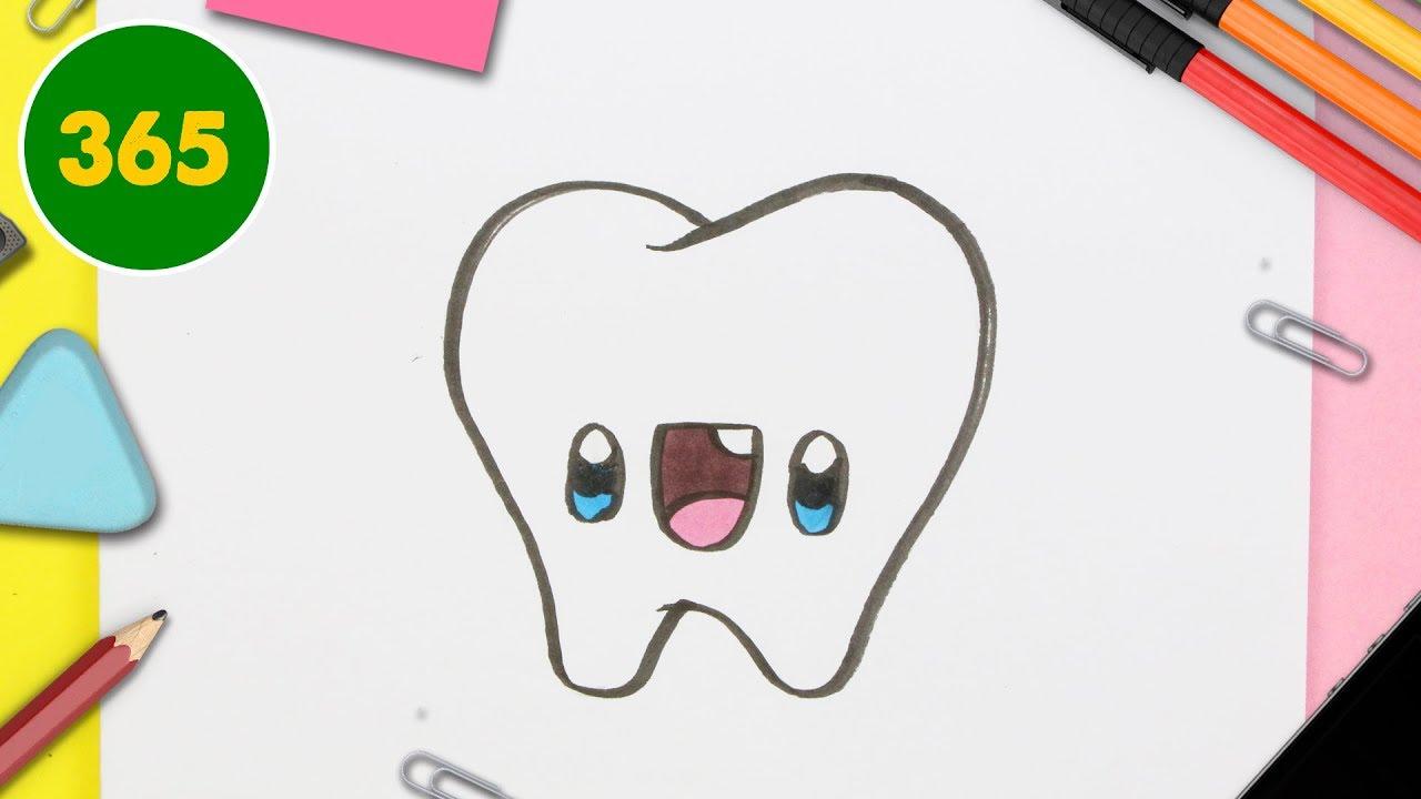 Comment Dessiner Dent Hibou Kawaii Étape Par Étape – Dessins Kawaii Facile pour Dessin Hibou Facile