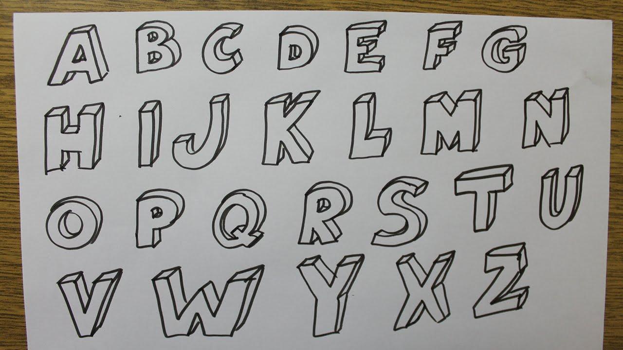 Comment Dessiner Des Lettres En 3D dedans Dessin Lettre E