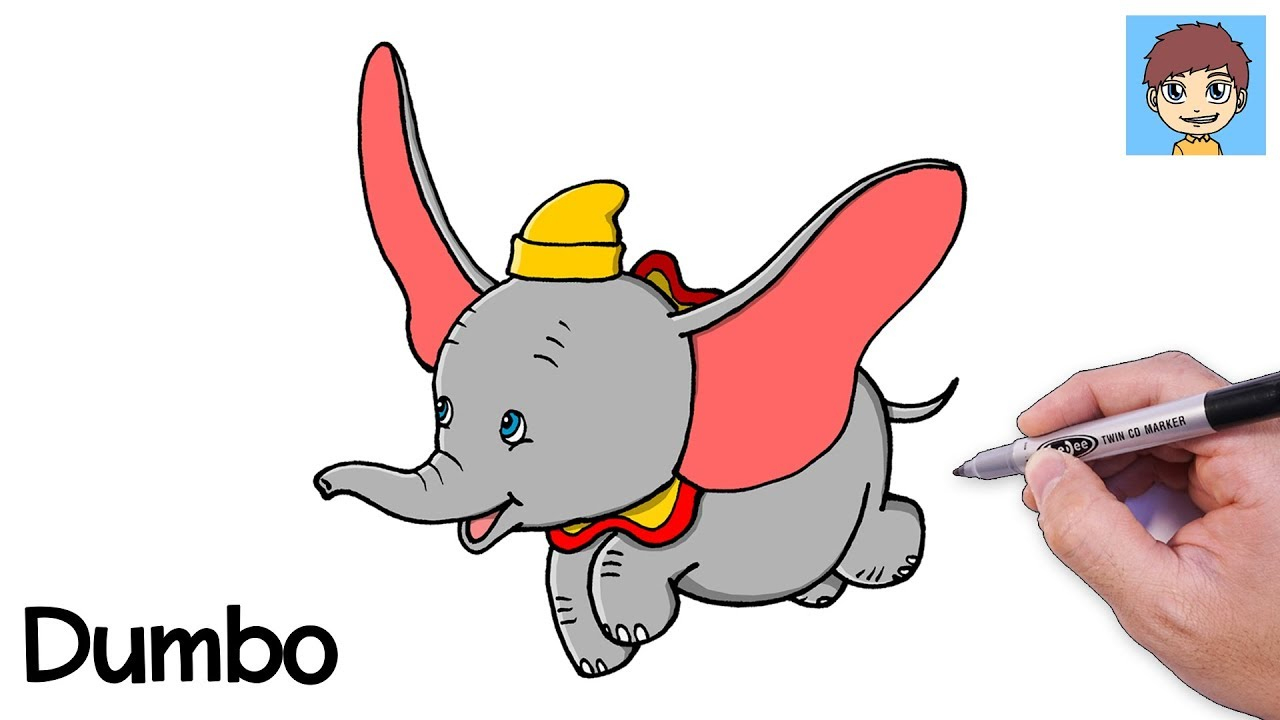 Comment Dessiner Dumbo Facilement - Dessin Facile A Faire - Dessin De Dumbo serapportantà Dessin Dumbo