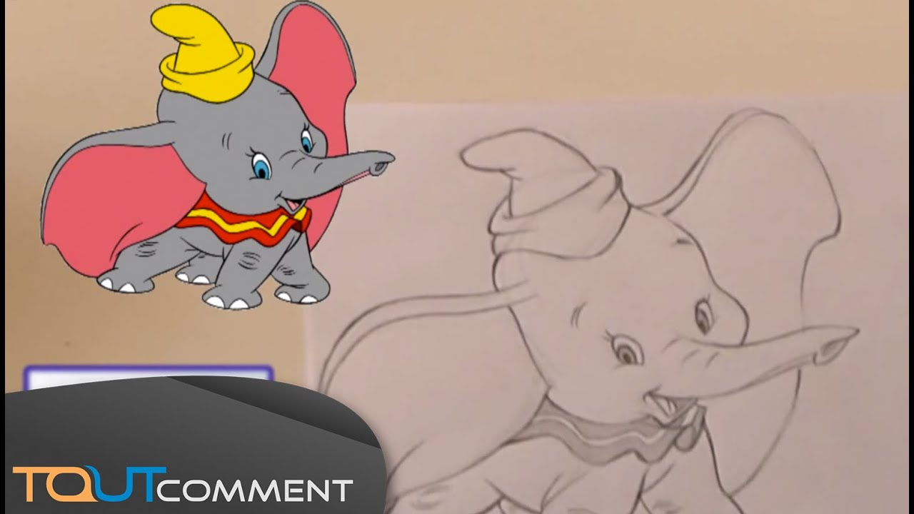 Comment Dessiner Dumbo L'éléphant / How To Draw Dumbo The Elephant tout Dessin Dumbo