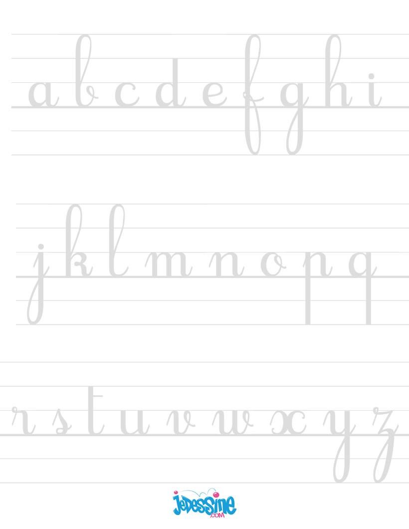 Comment Dessiner Ecrire Les Lettres Cursives En Minuscules pour Apprendre A Ecrire Les Lettres