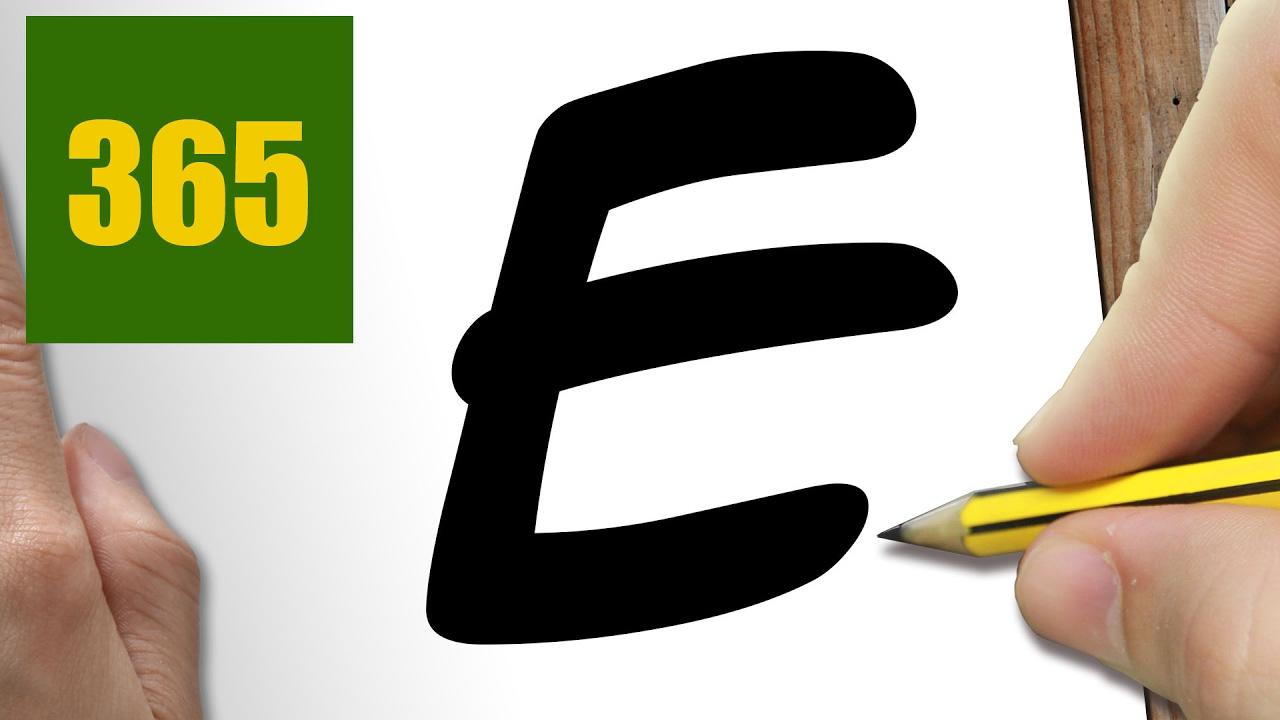 """Comment Dessiner En Utilisant La Lettre """"E"""" Kawaii Étape Par Étape –  Dessins Kawaii Facile intérieur Dessin Lettre E"""