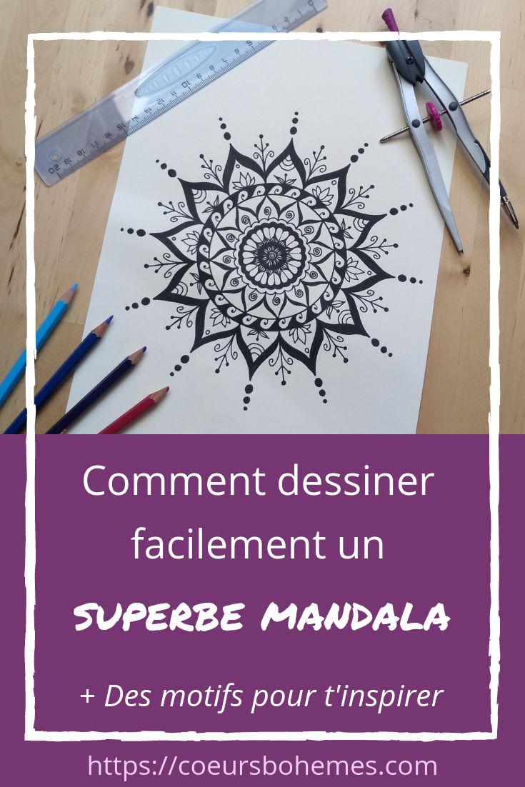 Comment Dessiner Facilement Un Superbe Mandala ~ Tuto Et Motifs intérieur Dessiner Un Mandala