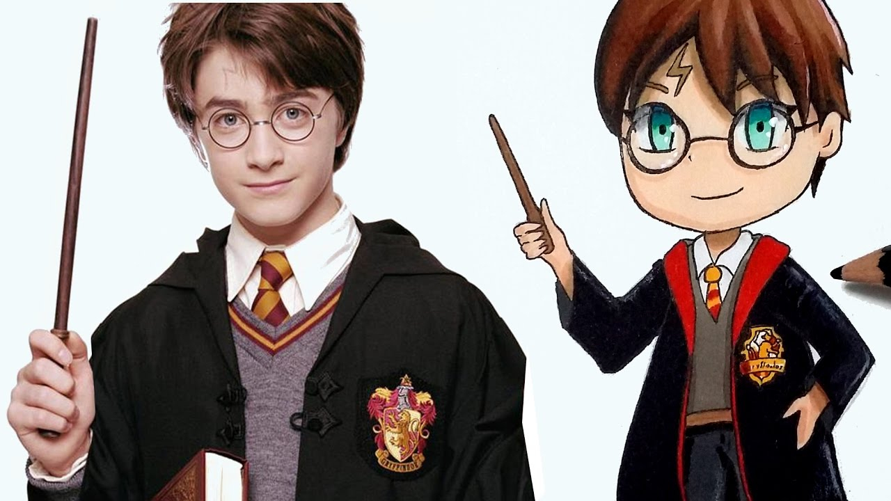 Comment Dessiner Harry Potter En Version Chibi [Tutoriel] dedans Dessin D Harry Potter