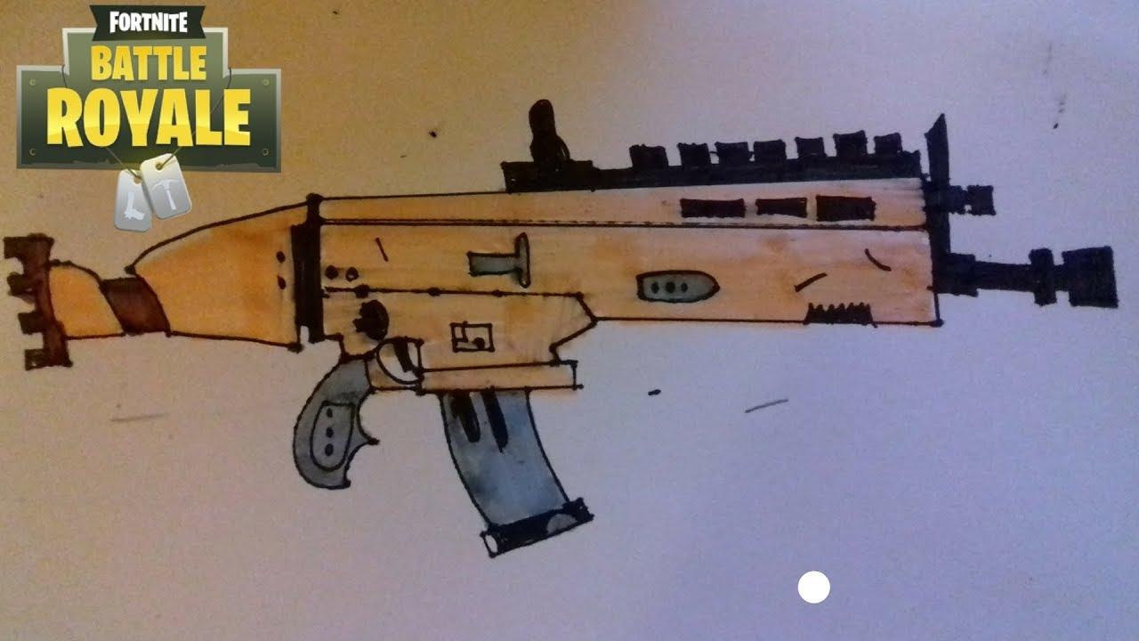 Comment Dessiner Le Fusil Scar | Fortnite serapportantà Comment Dessiner Un Fusil