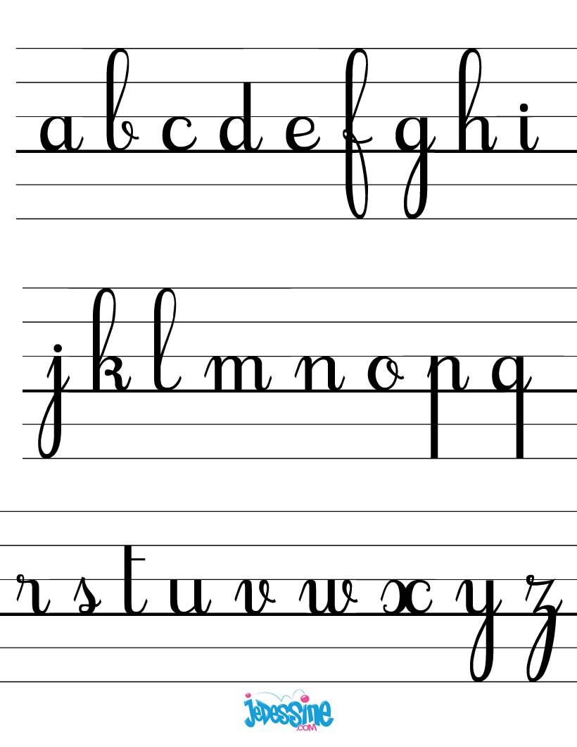 Comment Dessiner Les Lettres Cursives Minuscules - Fr avec Ecrire L Alphabet