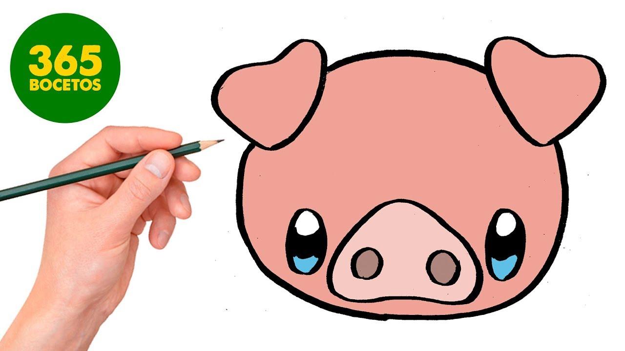 Comment Dessiner Petit Cochon Kawaii Étape Par Étape – Dessins Kawaii Facile tout Dessin A Colorier Cochon