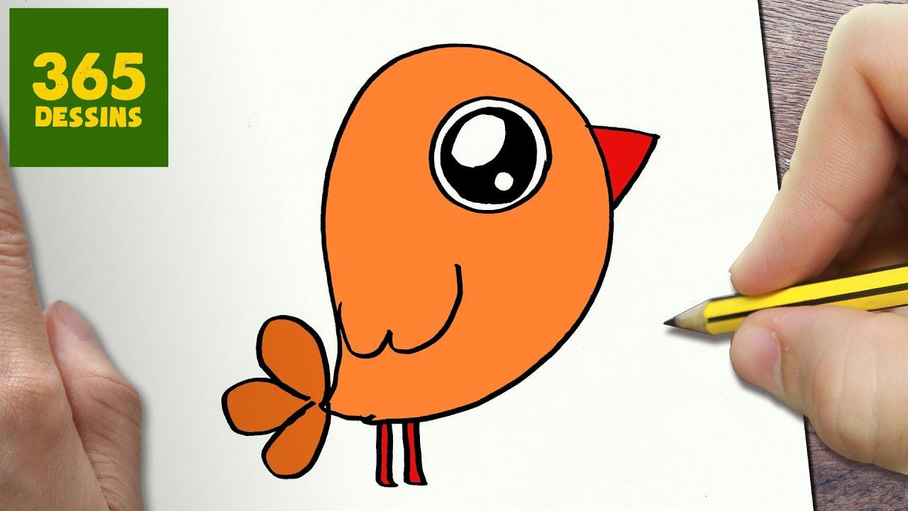 Comment Dessiner Petit Oiseau Kawaii Étape Par Étape – Dessins Kawaii Facile serapportantà Dessin D Oiseau Simple