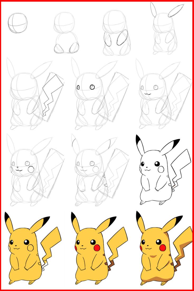 Comment Dessiner Pikachu | Dessin Pikachu, Dessin Pokemon Et serapportantà Dessin De Pikachu Facile