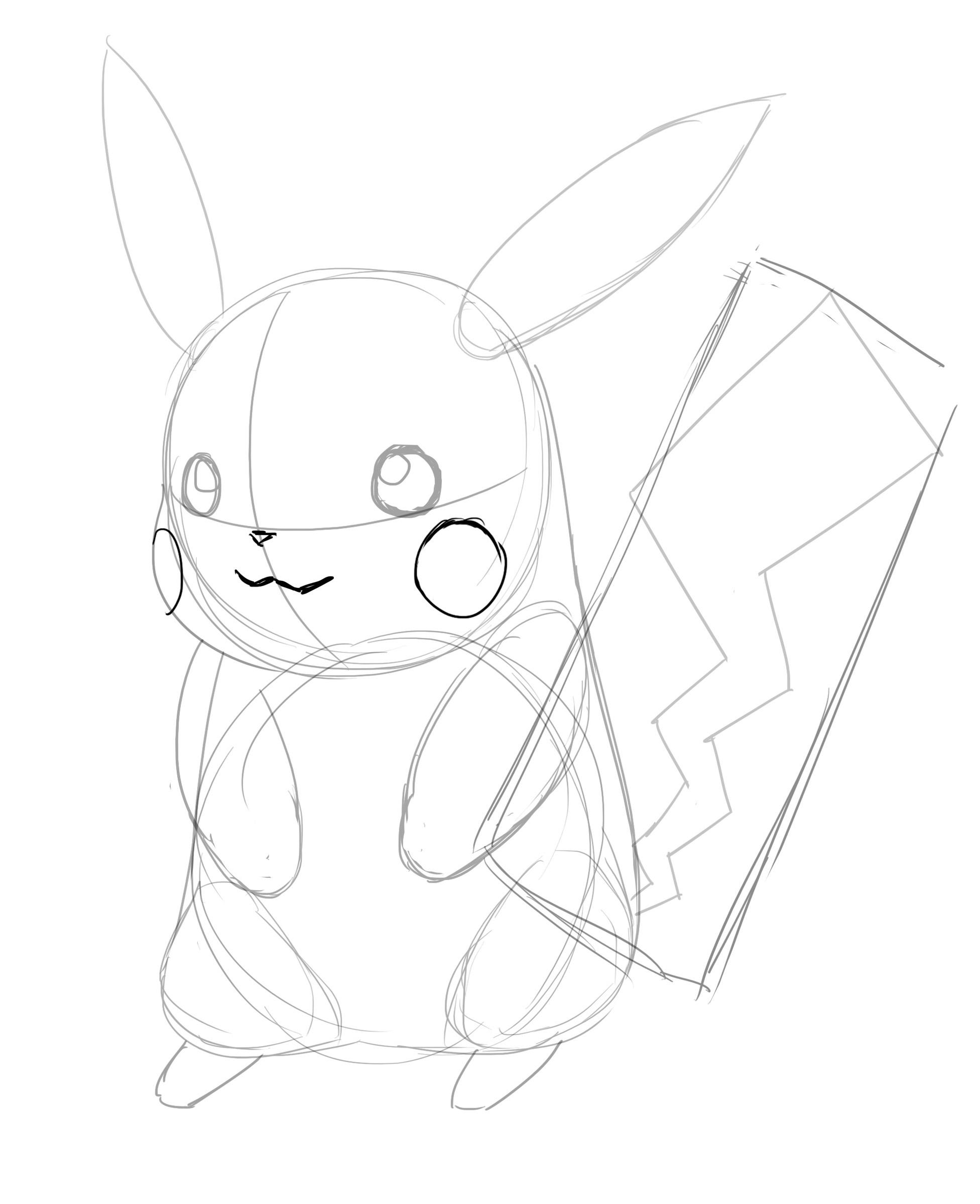 Comment Dessiner Pikachu - Dessindigo tout Dessin De Pikachu Facile