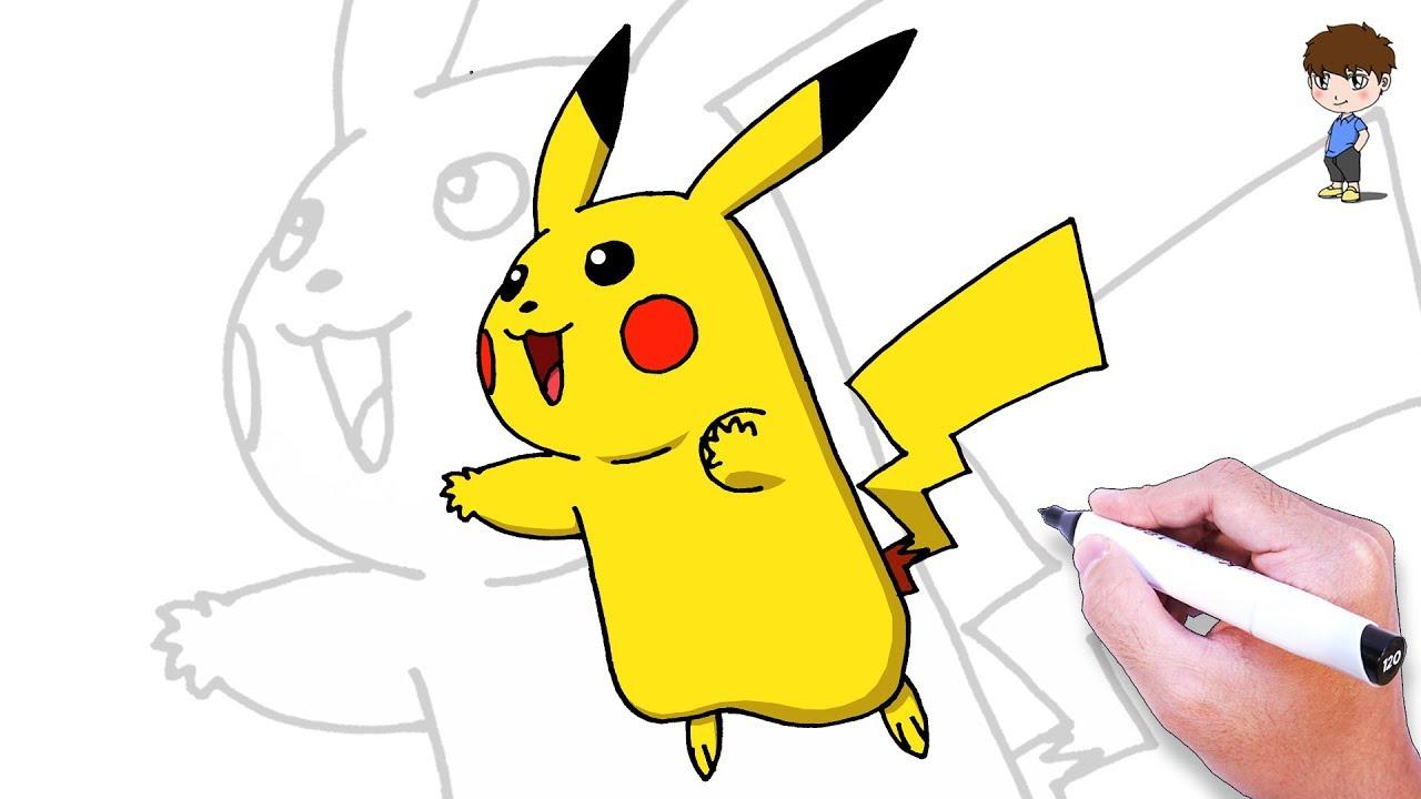 Comment Dessiner Pikachu Facilement – Dessin Facile A Faire - Dessin De  Pokemon tout Dessin De Pikachu Facile