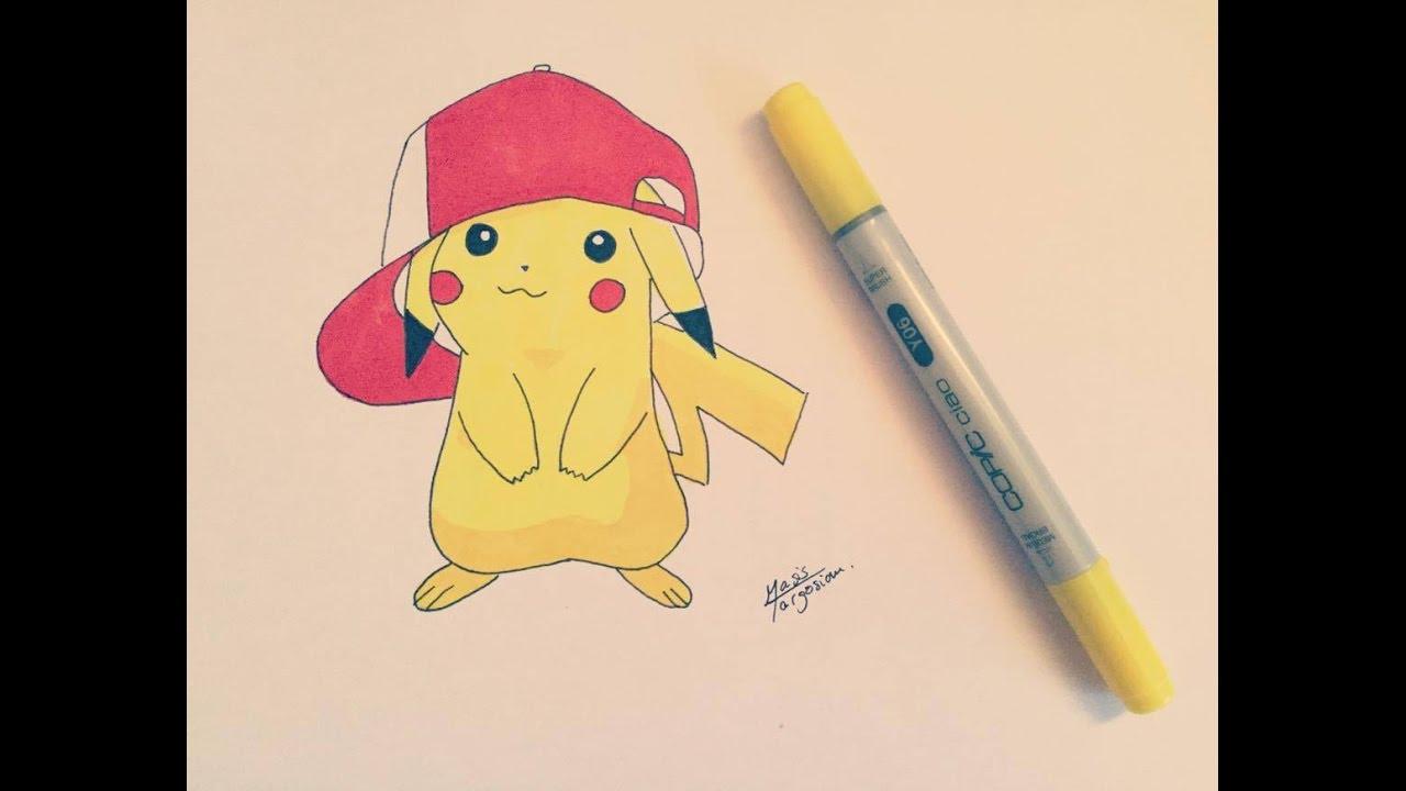 Comment Dessiner Pikachu ( Niveau Débutant ) dedans Dessin De Pikachu Facile
