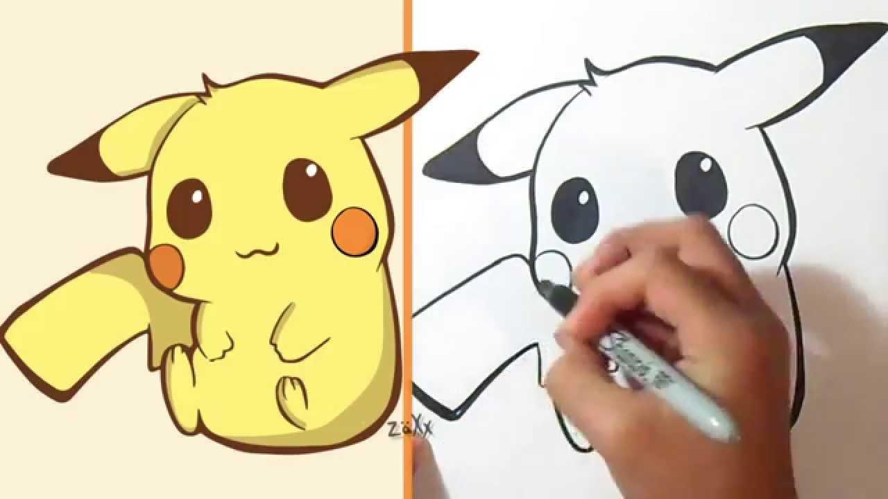 Comment Dessiner Pikachu serapportantà Dessin De Pikachu Facile