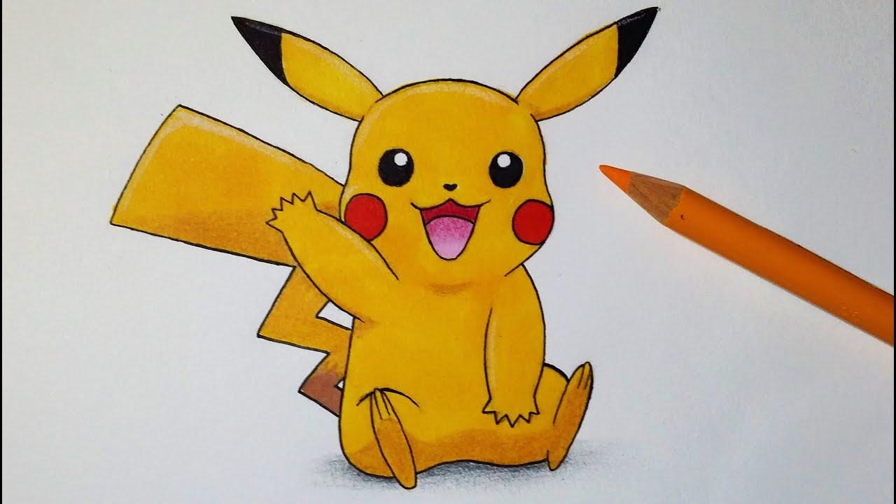 Comment Dessiner Pikachu [Tutoriel] à Dessin De Pikachu Facile