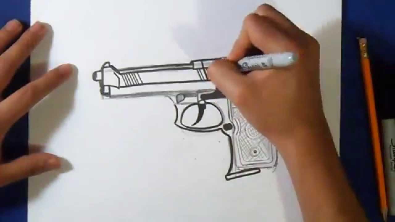 Comment Dessiner Pistolet dedans Comment Dessiner Un Fusil