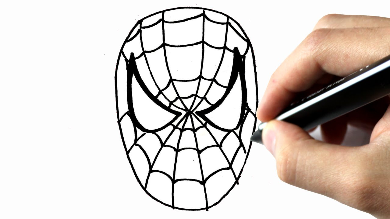 Comment Dessiner Spiderman destiné Tete Spiderman A Imprimer