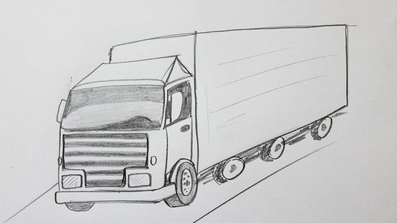 Comment Dessiner Un Camion intérieur Dessin D Un Camion