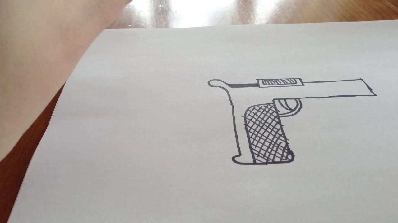 Comment Dessiner Un Fusil !!!!! à Comment Dessiner Un Fusil