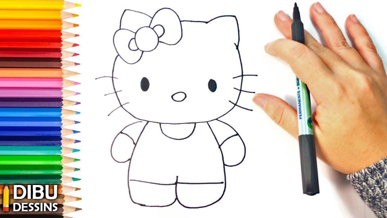Comment Dessiner Un Hello Kitty Étape Par Étape intérieur Hello Kitty À Dessiner