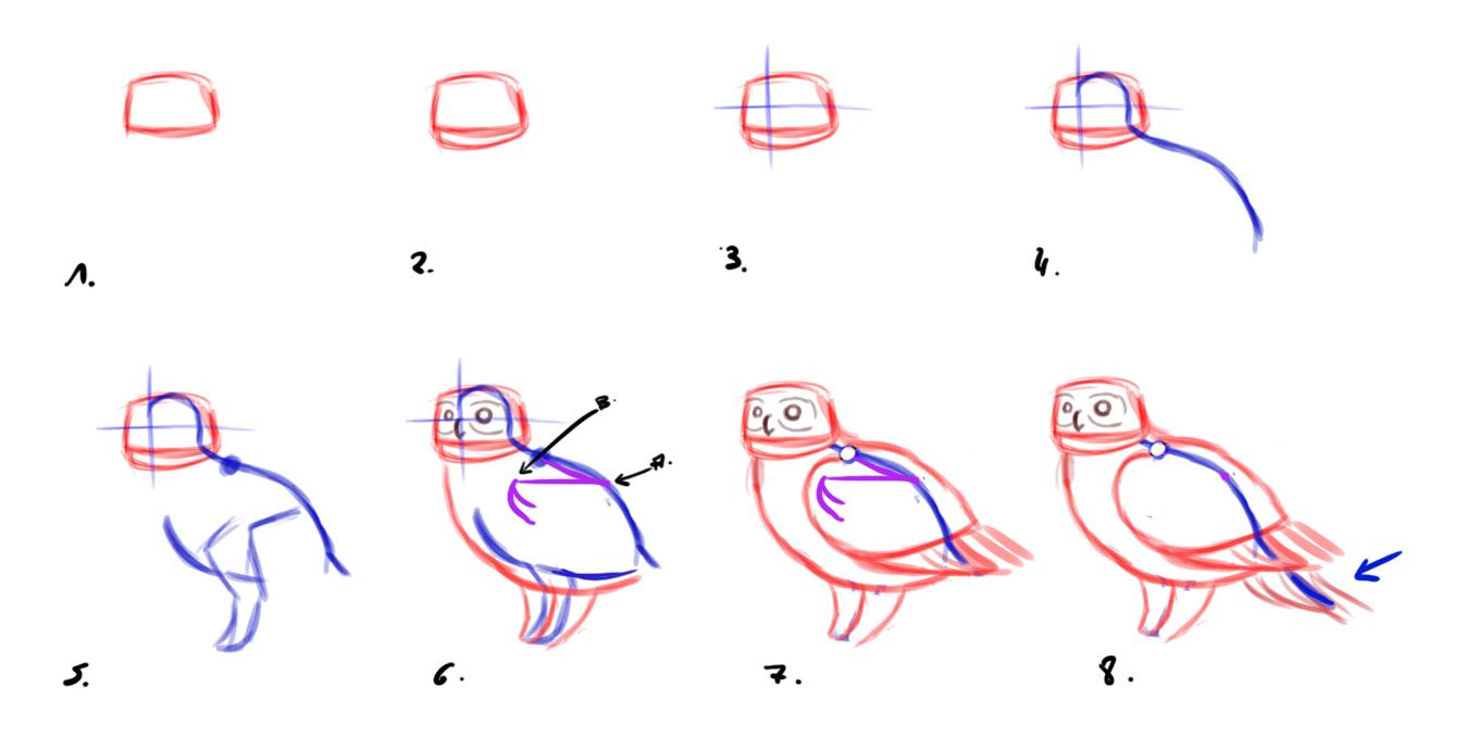Comment Dessiner Un Hibou - Dessindigo serapportantà Dessiner Un Hibou