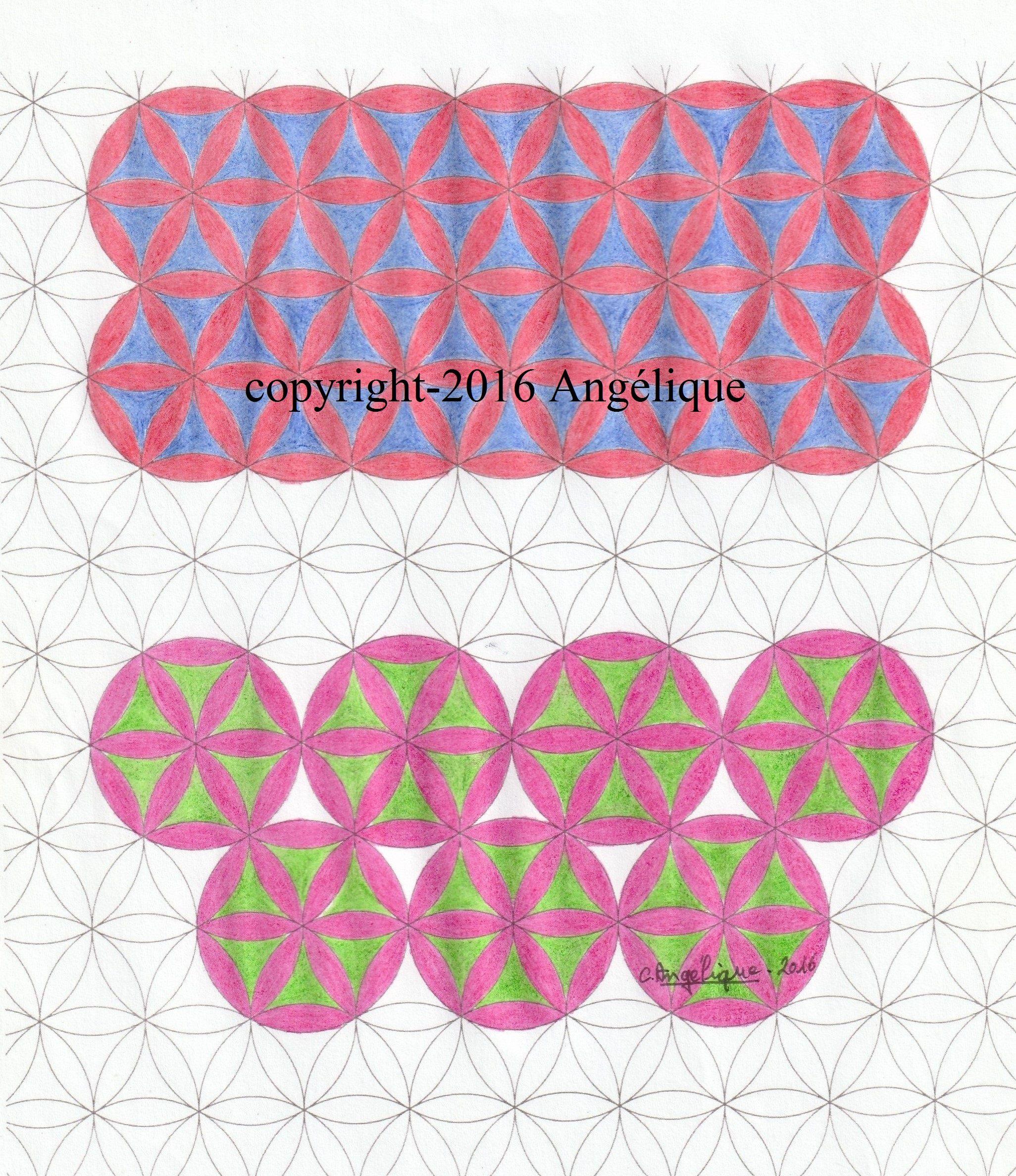 Comment Dessiner Un Motif Géométrique ? Pavage Rosace. En pour Dessiner Une Rosace
