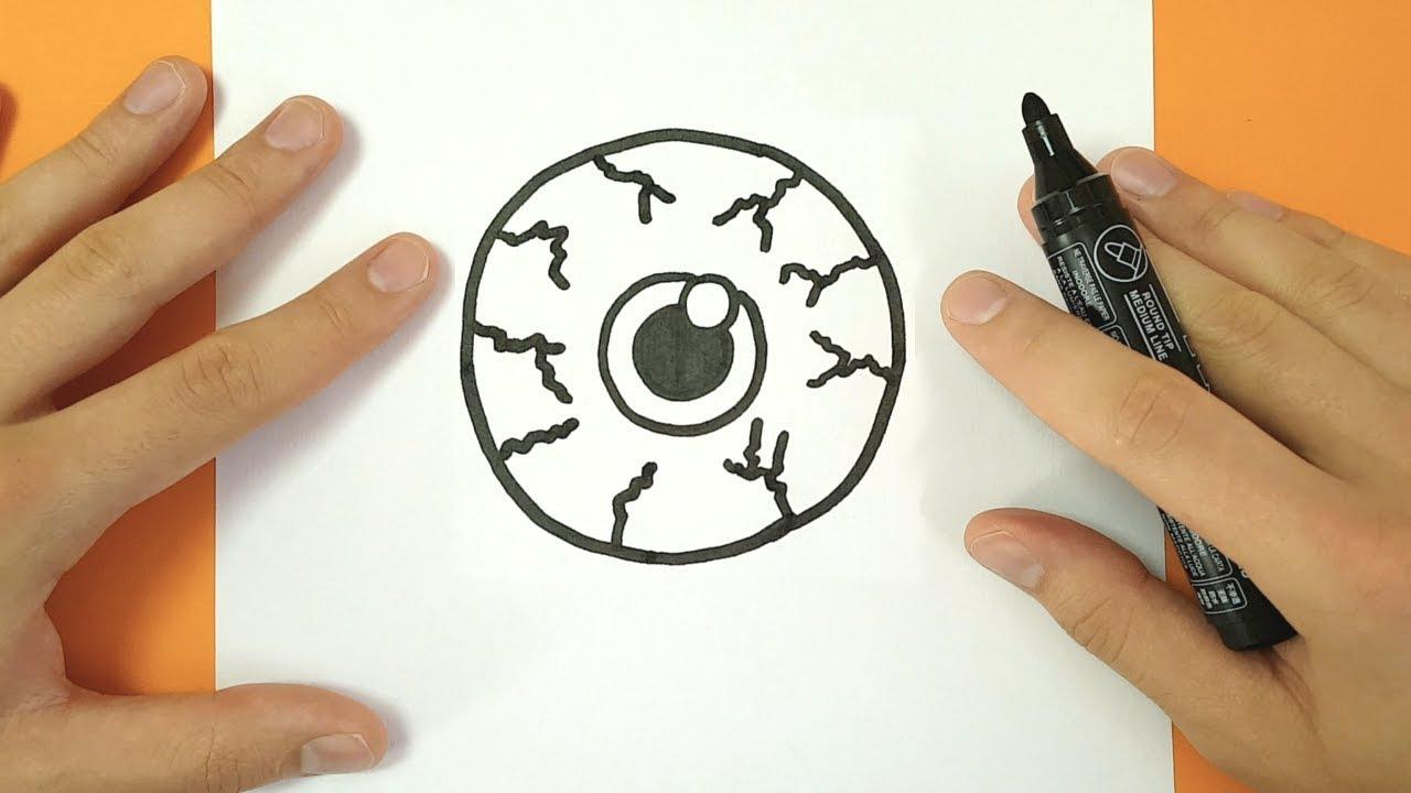 Comment Dessiner Un Oeil Halloween - Tuto Dessin pour Modèles De Dessins À Reproduire