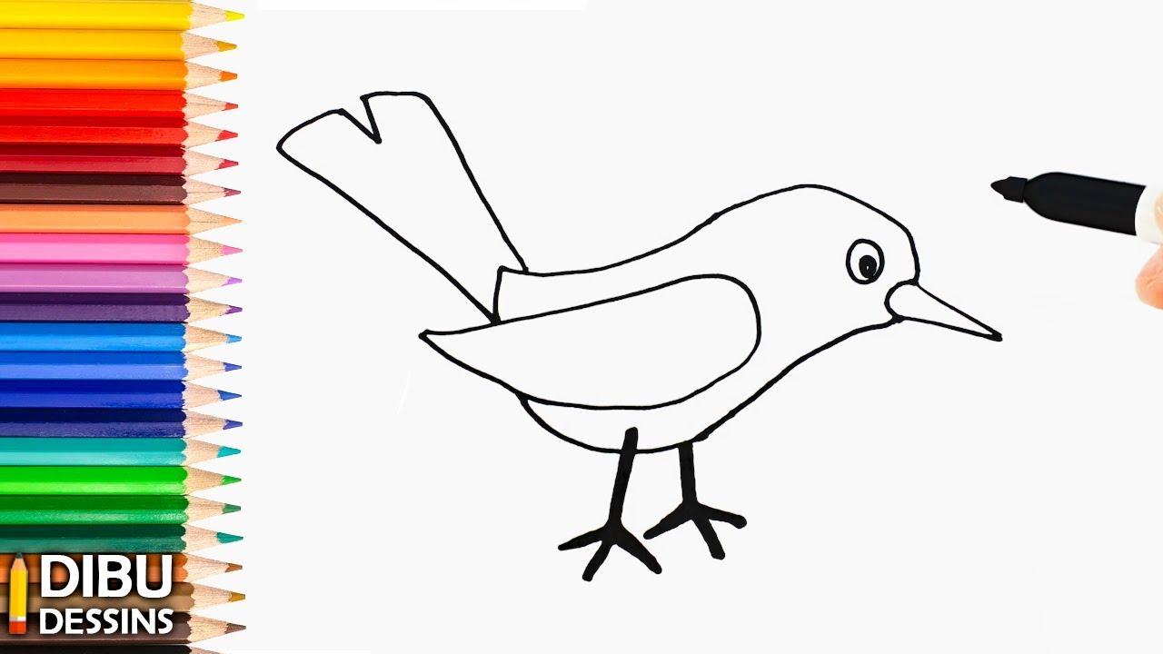 Comment Dessiner Un Oiseau | Dessin De Oiseau Très Facile avec Dessin D Oiseau Simple