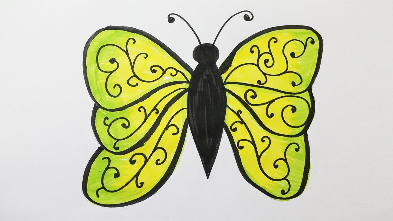 Comment Dessiner Un Papillon concernant Papillon À Dessiner