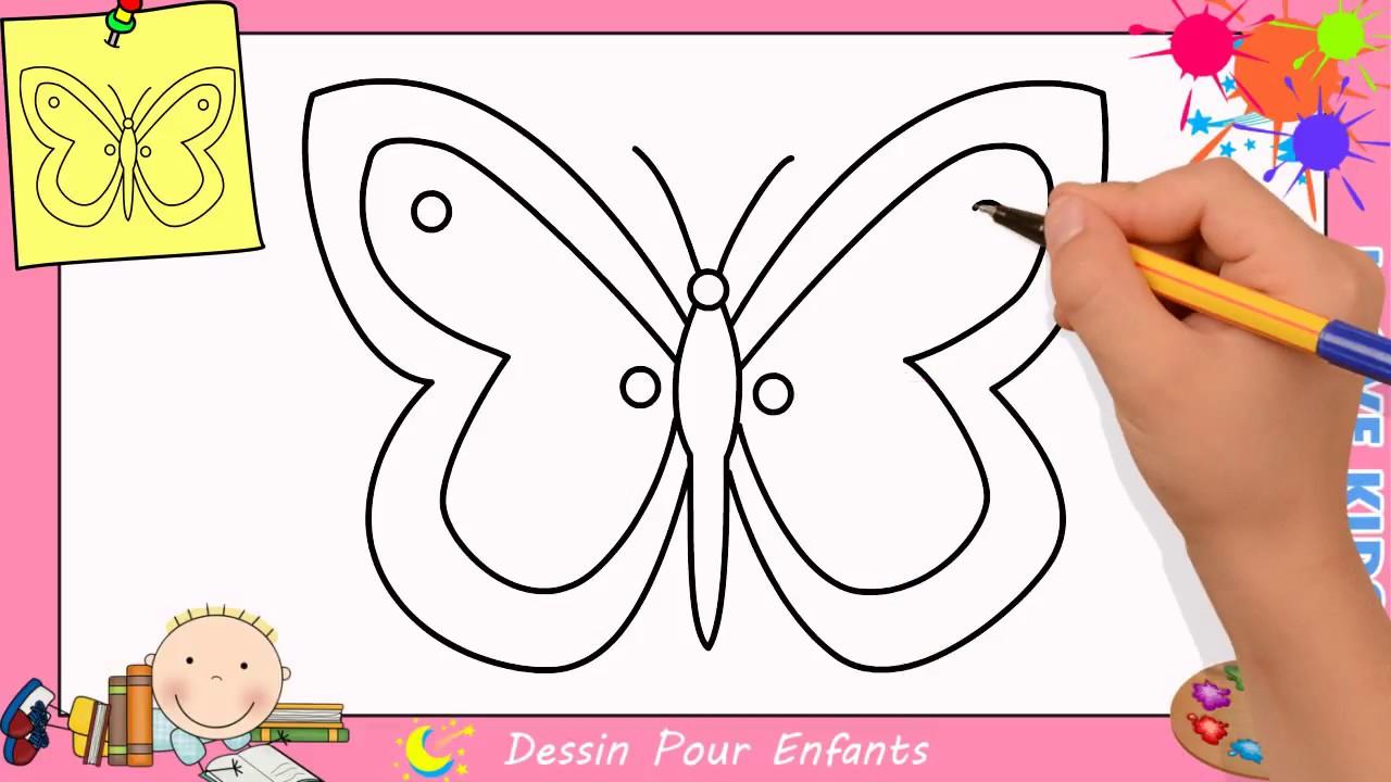 Comment Dessiner Un Papillon Facilement Etape Par Etape Pour Enfants 6 concernant Papillon À Dessiner