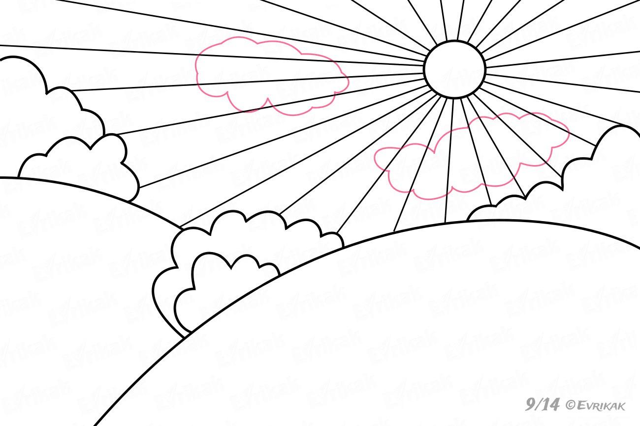 Comment Dessiner Un Paysage De Printemps Au Crayon intérieur Dessin Printemps Paysage