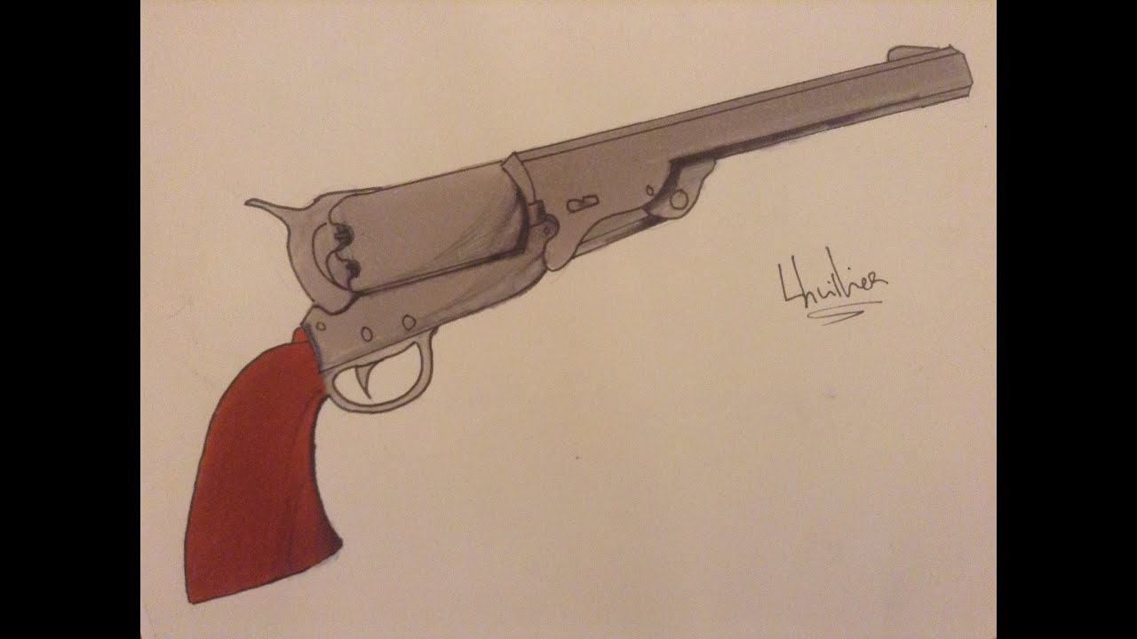 Comment Dessiner Un Revolver Type Western concernant Comment Dessiner Un Fusil