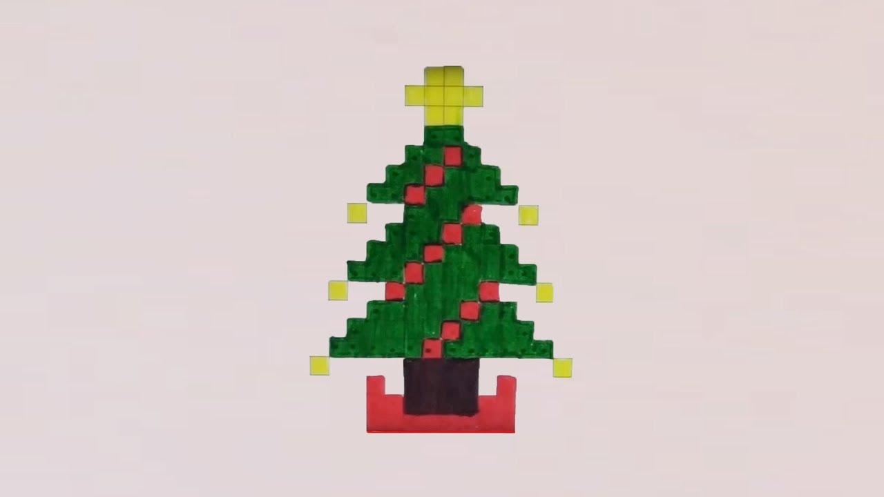 Comment Dessiner Un Sapin De Noël Pixel Art encequiconcerne Pixel Art De Noël