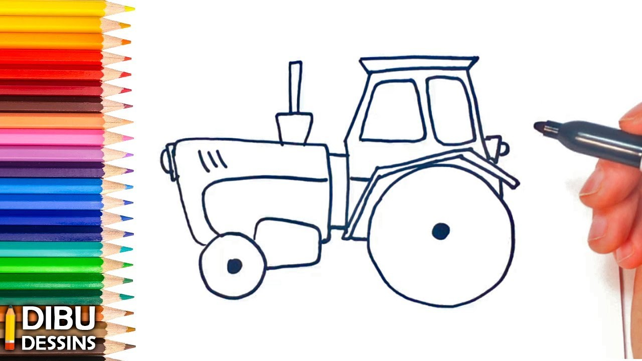 Comment Dessiner Un Tracteur | Dessin De Tracteur concernant Dessin De Tracteur À Colorier