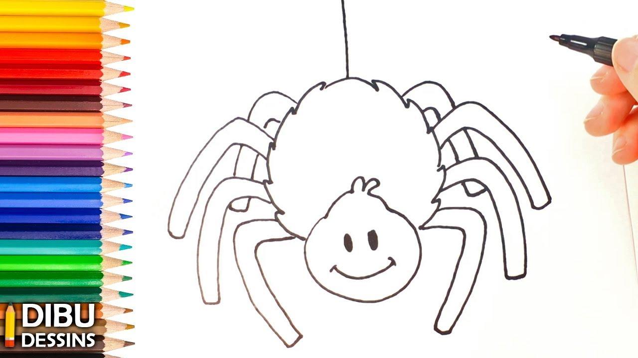 Comment Dessiner Une Araignée | Dessin De Araignée serapportantà Dessiner Une Araignee