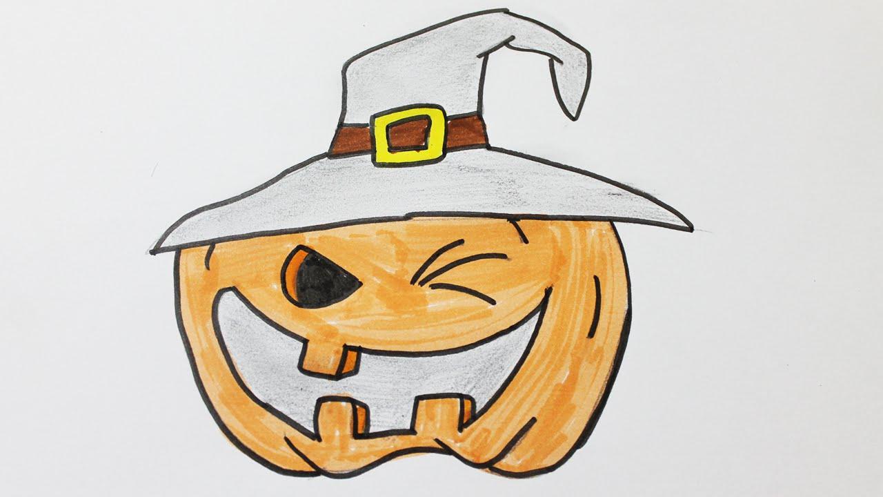 Comment Dessiner Une Citrouille D'halloween à Dessin D Halloween Facile A Dessiner
