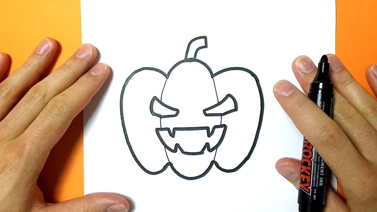 Comment Dessiner Une Citrouille Pour Halloween - Tuto Dessin destiné Modèles De Dessins À Reproduire