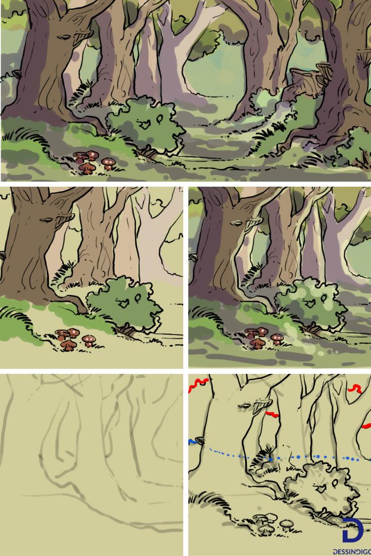 Comment Dessiner Une Forêt avec Dessin De Foret
