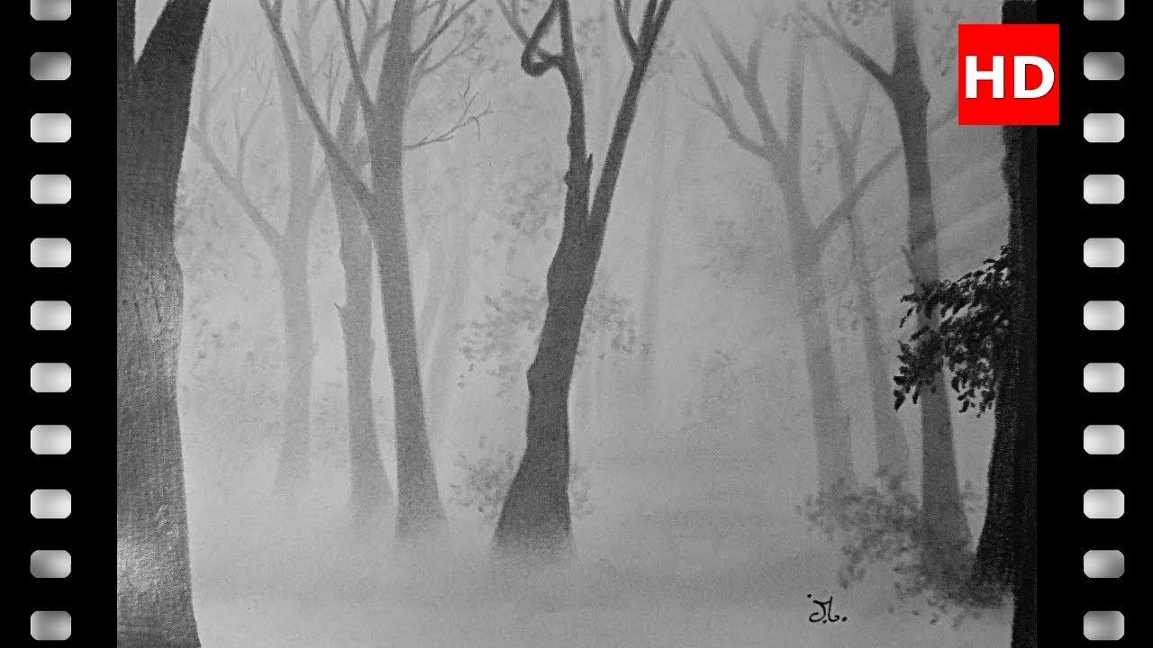 Comment Dessiner Une Forêt Dans La Brume (Débutants). pour Dessin De Foret