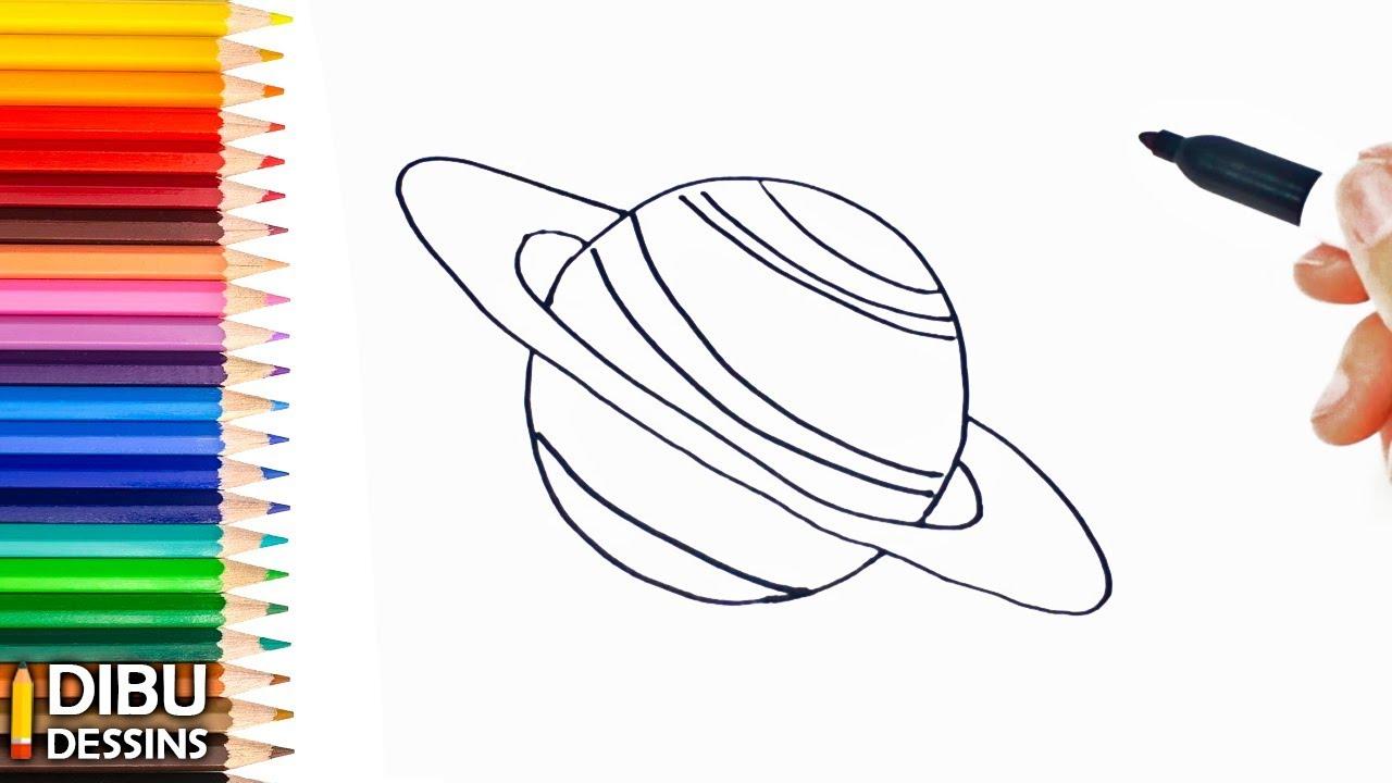 Comment Dessiner Une Planète | Dessin De Planète serapportantà Saturne Dessin