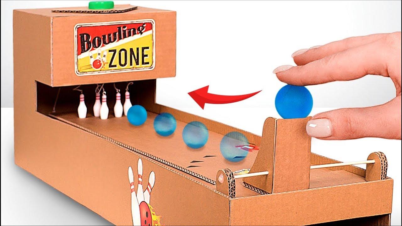 Comment Fabriquer Un Jeu De Bowling En Carton ?! avec Jeux De Bouligue
