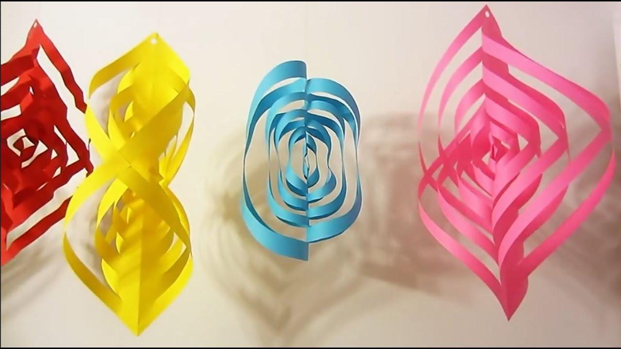 Comment Fabriquer Une Guirlande 3D En Papier destiné Decoupage Papier Facile