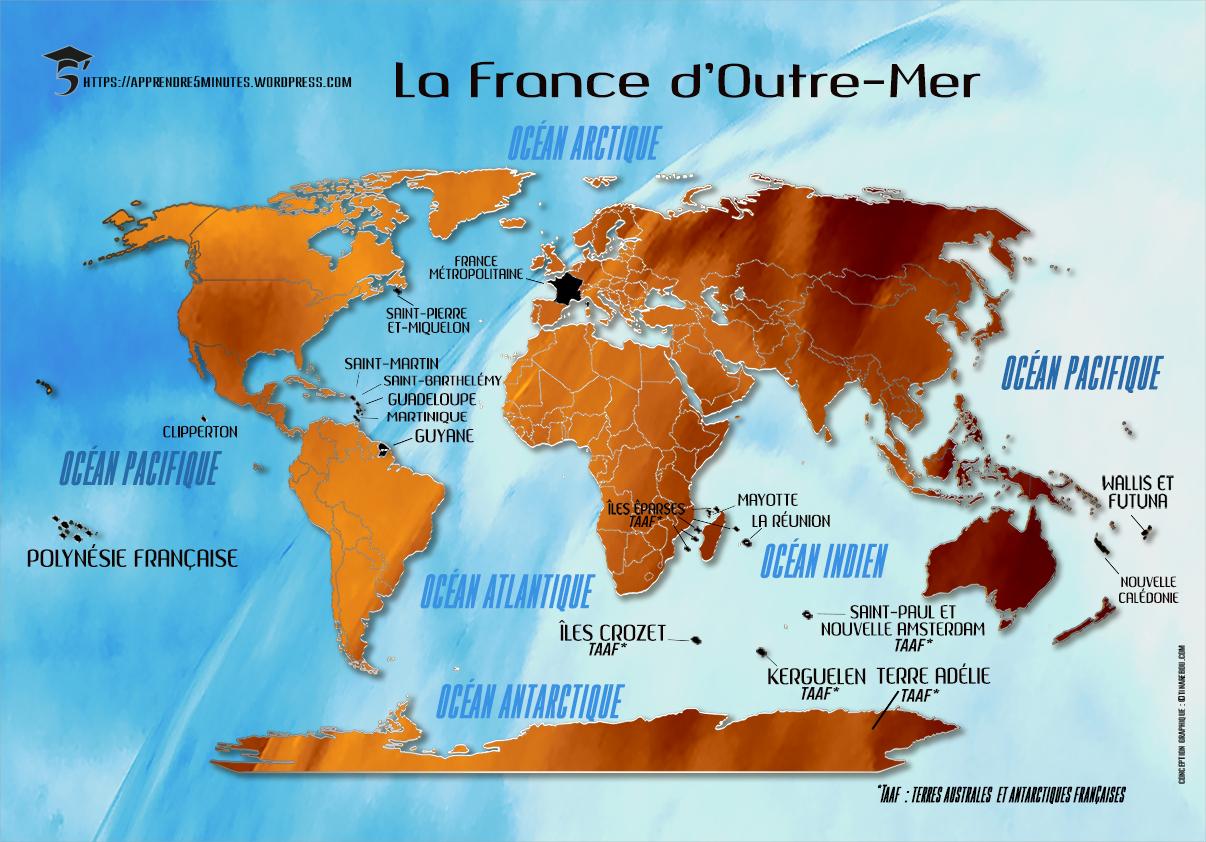 Comment Mémoriser Les Régions De France Facilement destiné Carte France D Outre Mer