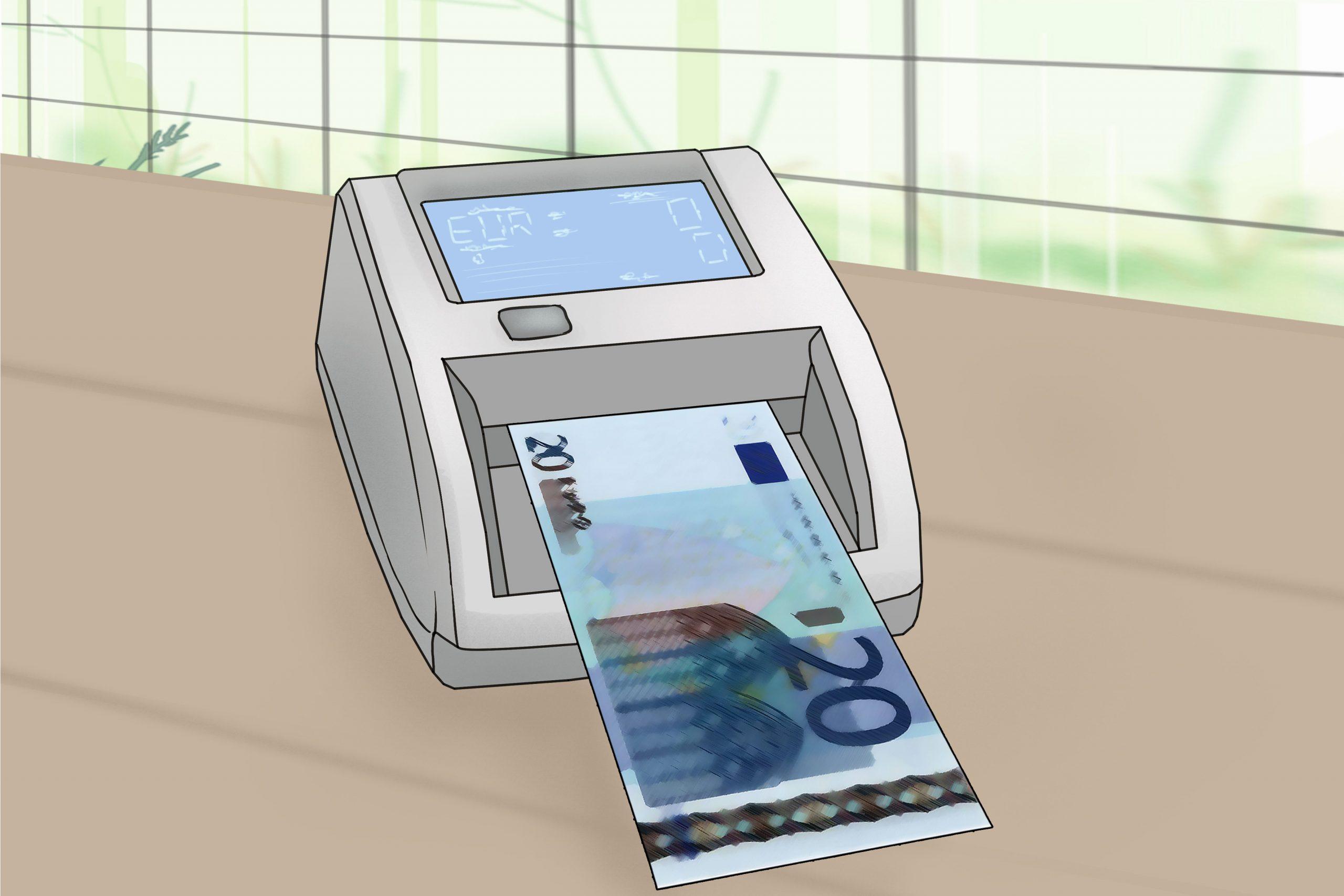 Comment Reconnaître De Faux Billets D'euros: 10 Étapes serapportantà Billet De 50 Euros À Imprimer