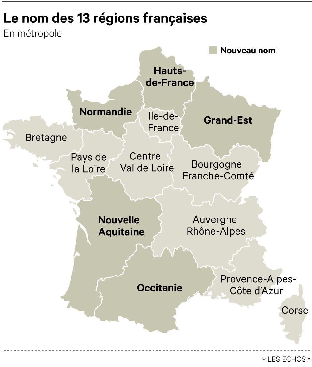 Comment S'appelle Désormais Votre Région ? destiné Nouvelle Region France
