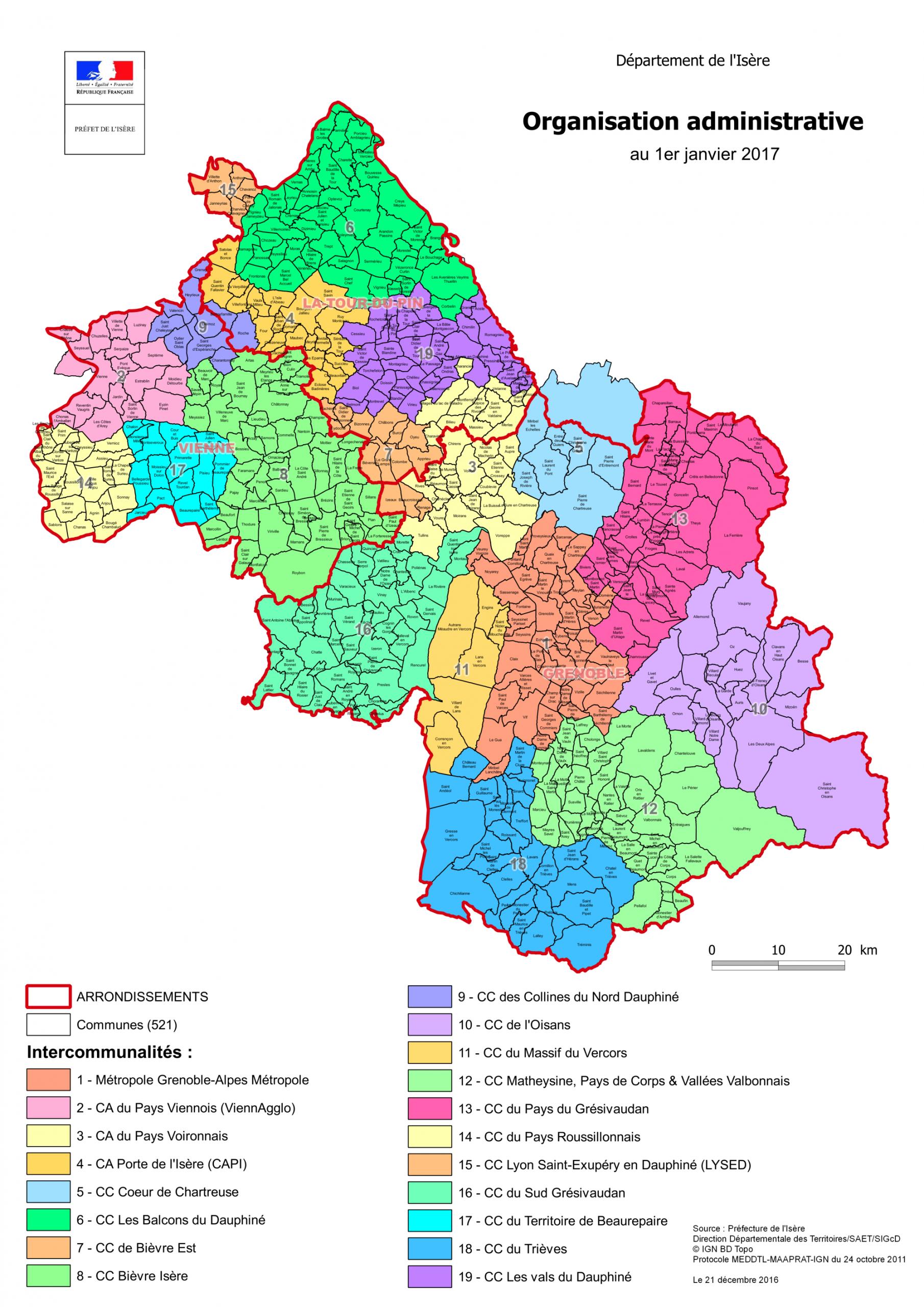 Communautés De Communes, Communautés D'agglomération Et destiné Carte Des Départements De France 2017