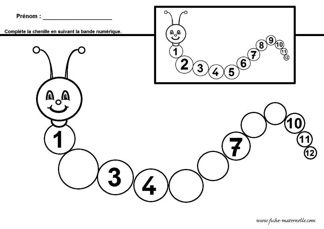 Compléter La Bande Numérique En Maternelle Et Cp dedans Exercice Maternelle Moyenne Section