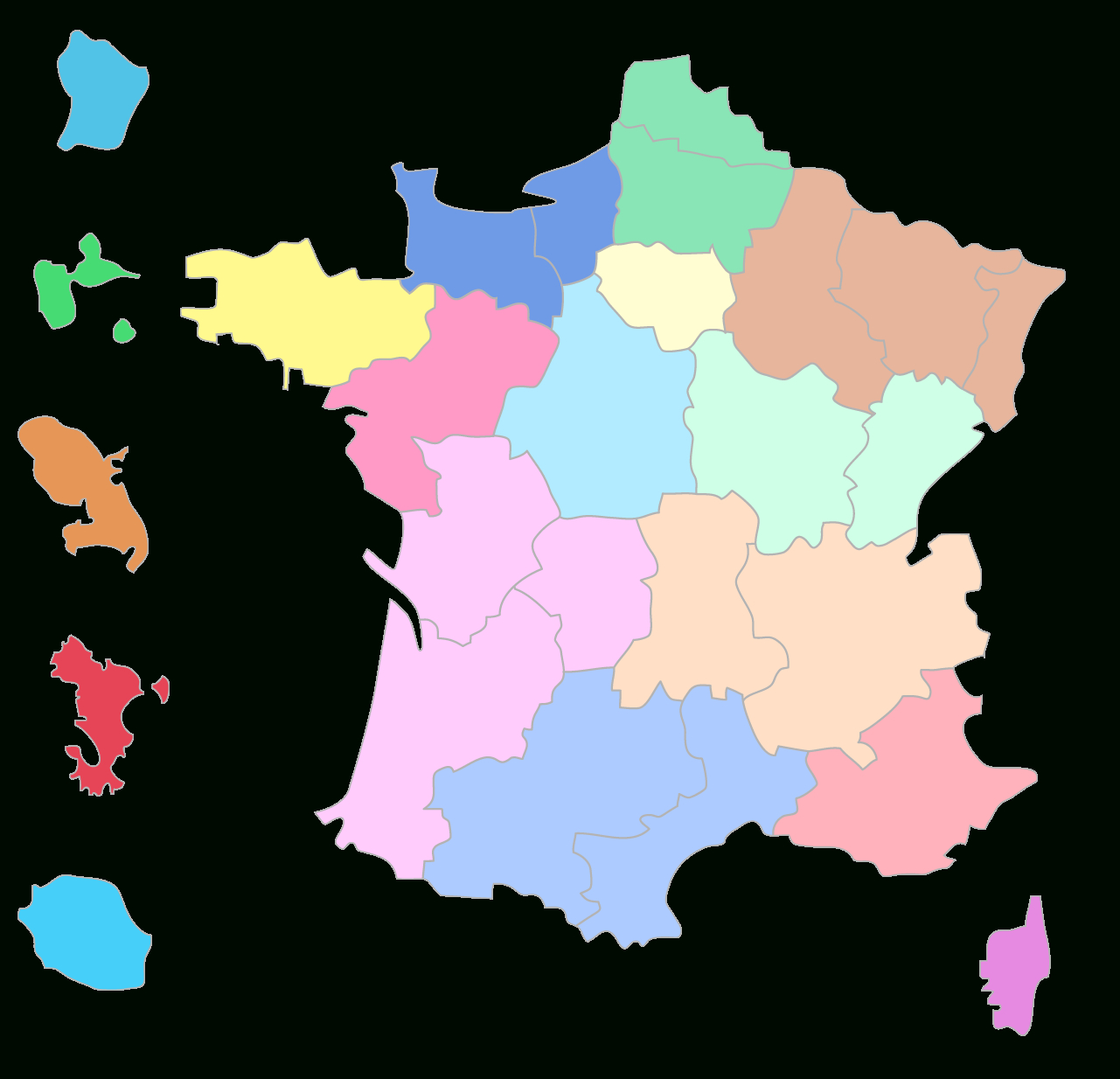 Compléter La Carte Des Régions Françaises - 3E - Exercice encequiconcerne Carte Des Régions Françaises